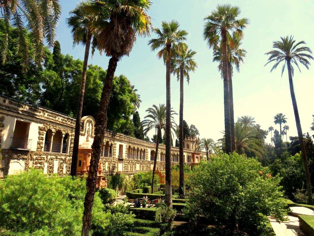 Jardinés de Alcazár Sevilla