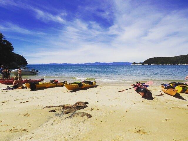 Kayaktour Abel Tasman Nationalpark Neuseeland