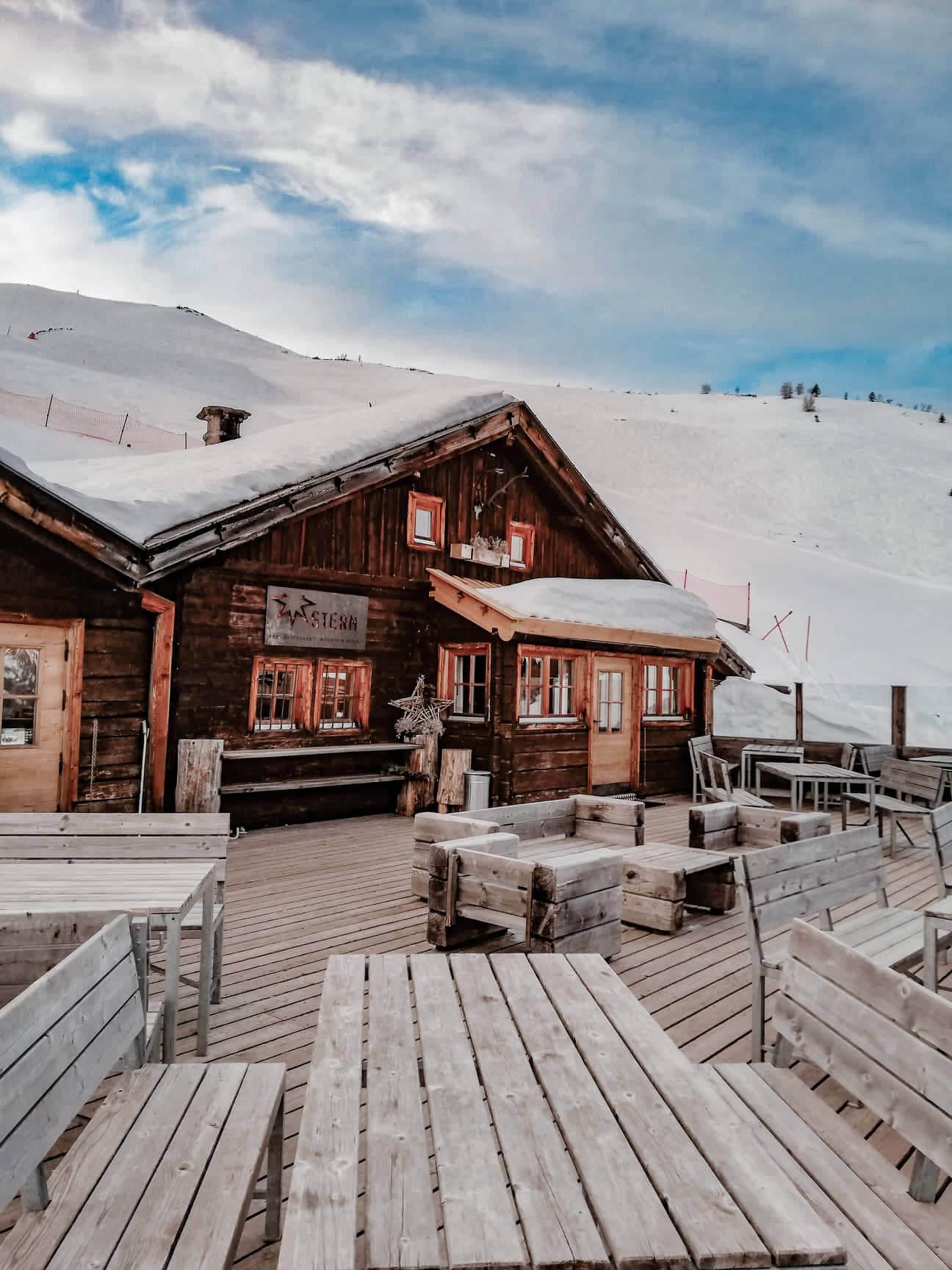 Mountain Chalet Ski fahren