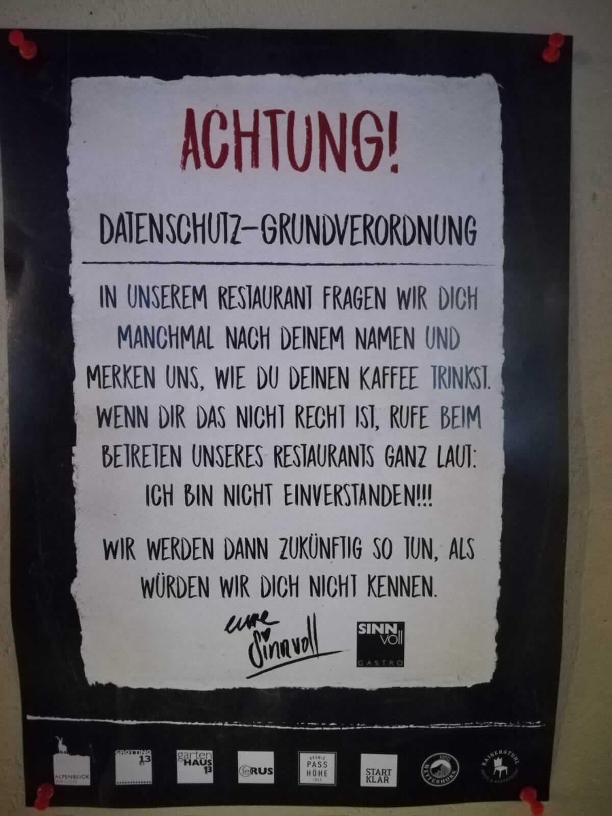 Hotel Alpenblick in Weggis DSGVO