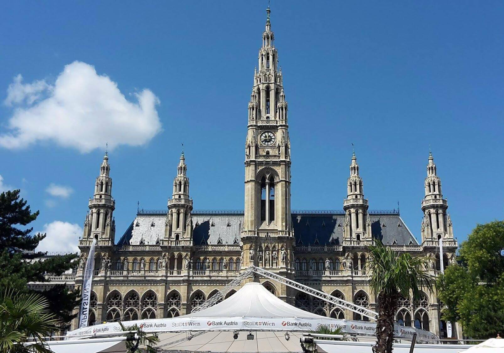 Das Rathaus der Stadt Wien