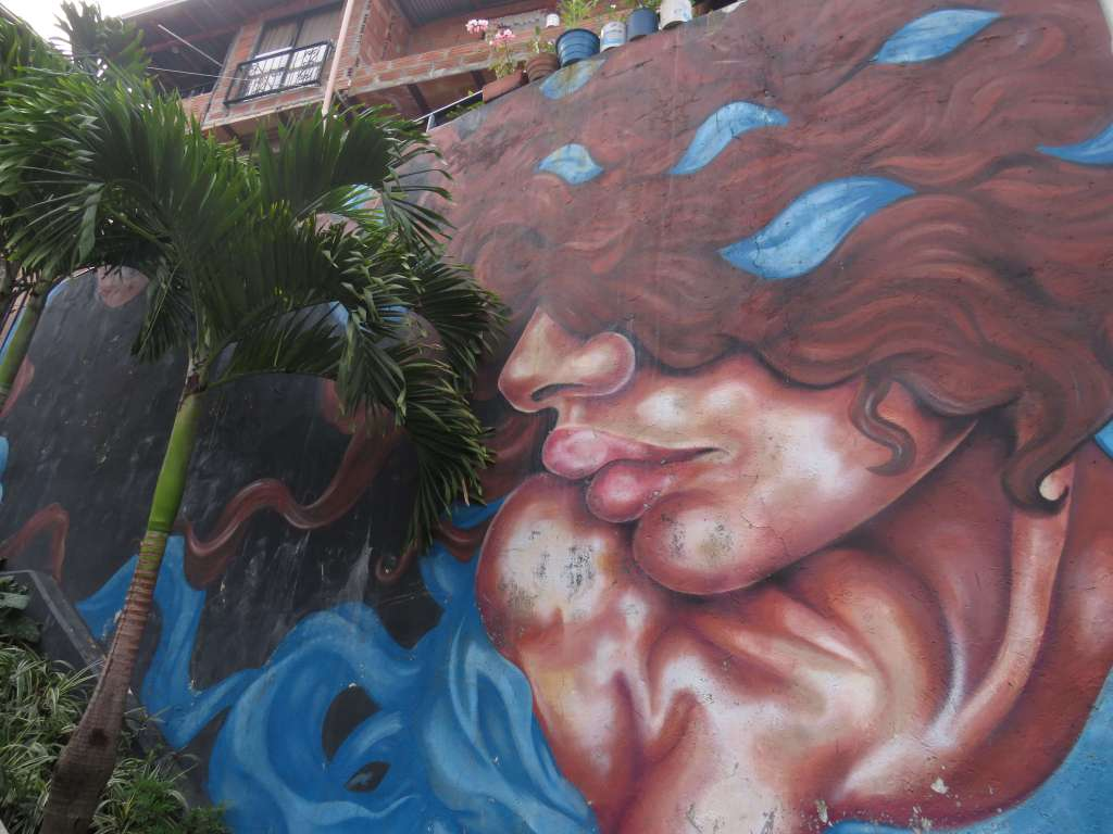 Medellin Sicherheit Graffiti